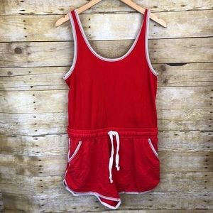 Free People Movement Red Hot Romper Size Large